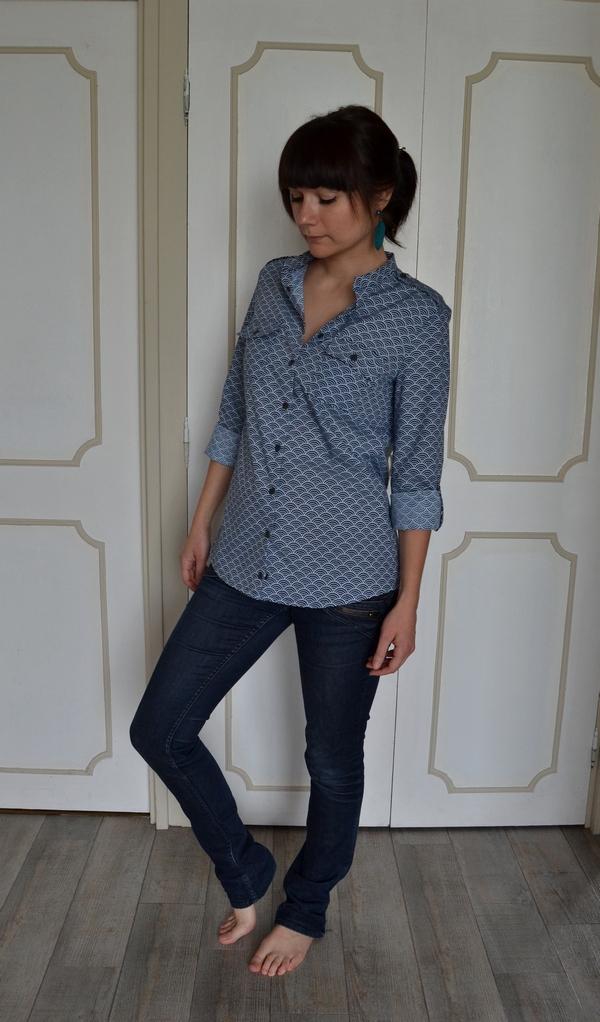 Chemisier seigahai - Sabali couture - 05